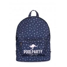 Рюкзак з літаками POOLPARTY backpack-planes-darkblue синій