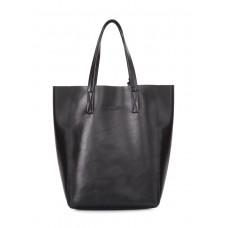 Сумка-шоппер Model из эко-кожи POOLPARTY model-pu-black черная