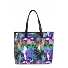 Літня сумка з тропічним принтом Resort фіолетова