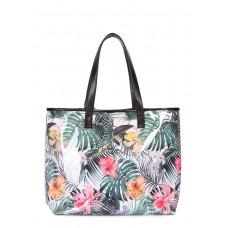 Літня сумка з тропічним принтом Resort Біла