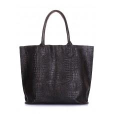 Шкіряна сумка POOLPARTY Amphibia чорна