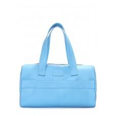 Кожаная сумка POOLPARTY Sidewalk голубая
