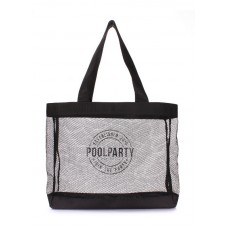 Сітчаста сумка POOLPARTY mesh-beach-tote чорна
