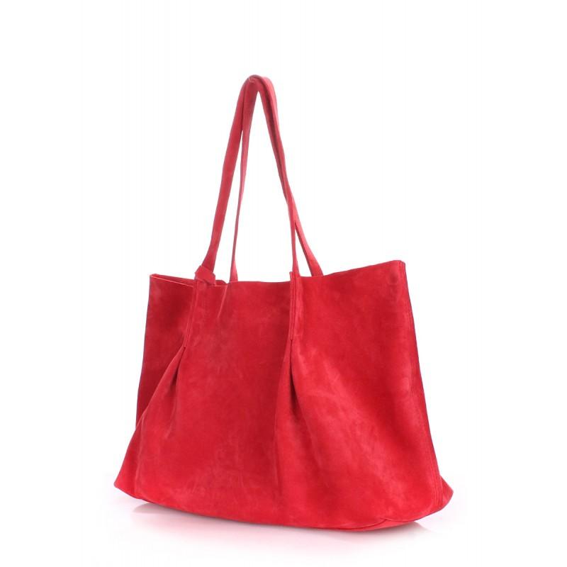 a4458e0b2aca Женская замшевая сумка Poolparty sugar-velour-red красная — купить ...