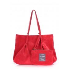 Женская замшевая сумка Poolparty sugar-velour-red красная
