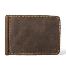 Портмоне-зажим TIDING BAG 7128R коричневое