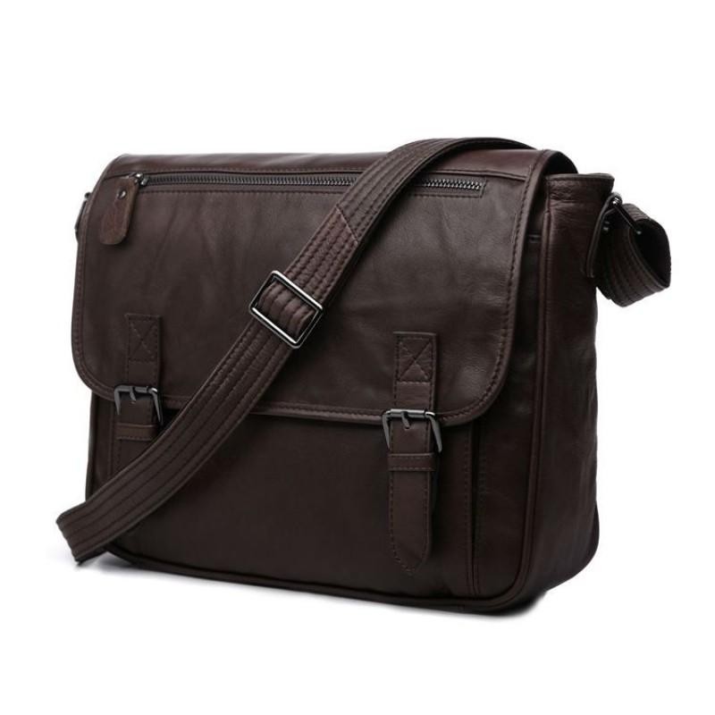 d64021f87752 Мужская сумка через плечо Jasper Maine 7022C коричневая купить в ...