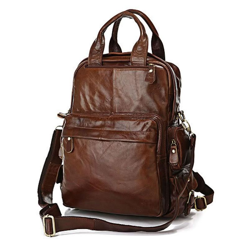 c1f760bbecfe Сумка-рюкзак TIDING BAG 7007C коричневая купить в Киеве недорого ...