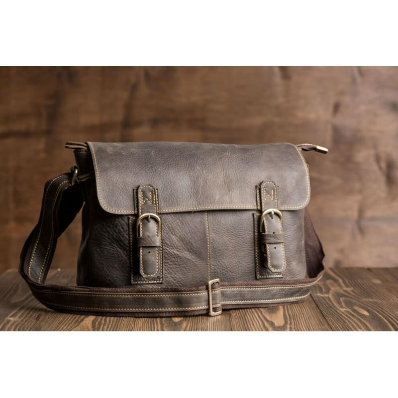 ba0f9804a044 Мужская сумка через плечо TIDING BAG G8850 коричневая купить в Киеве ...