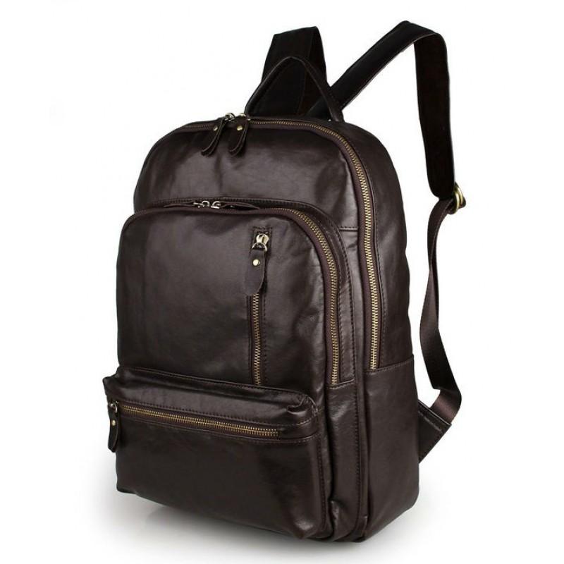 9a947ba5b09b Мужской кожаный рюкзак TIDING BAG 7313Q коричневый купить в Киеве ...