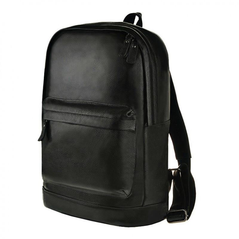 176a42f9c128 Мужской кожаный рюкзак TIDING BAG M8613A черный купить в Киеве ...