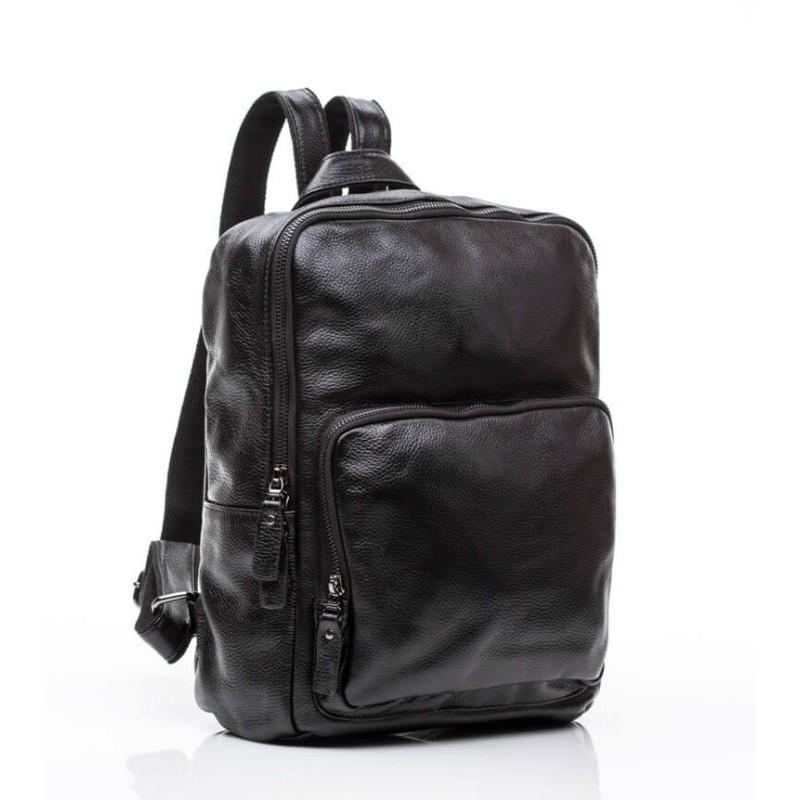 8781be65b2e3 Рюкзак кожаный TIDING BAG M8810A черный купить в Киеве недорого ...