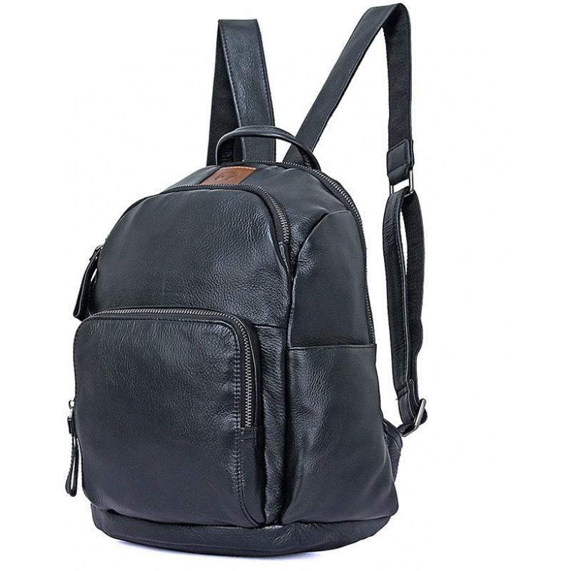 66b4abb06574 Рюкзак кожаный Tiding Bag 88101A черный купить в Киеве недорого ...
