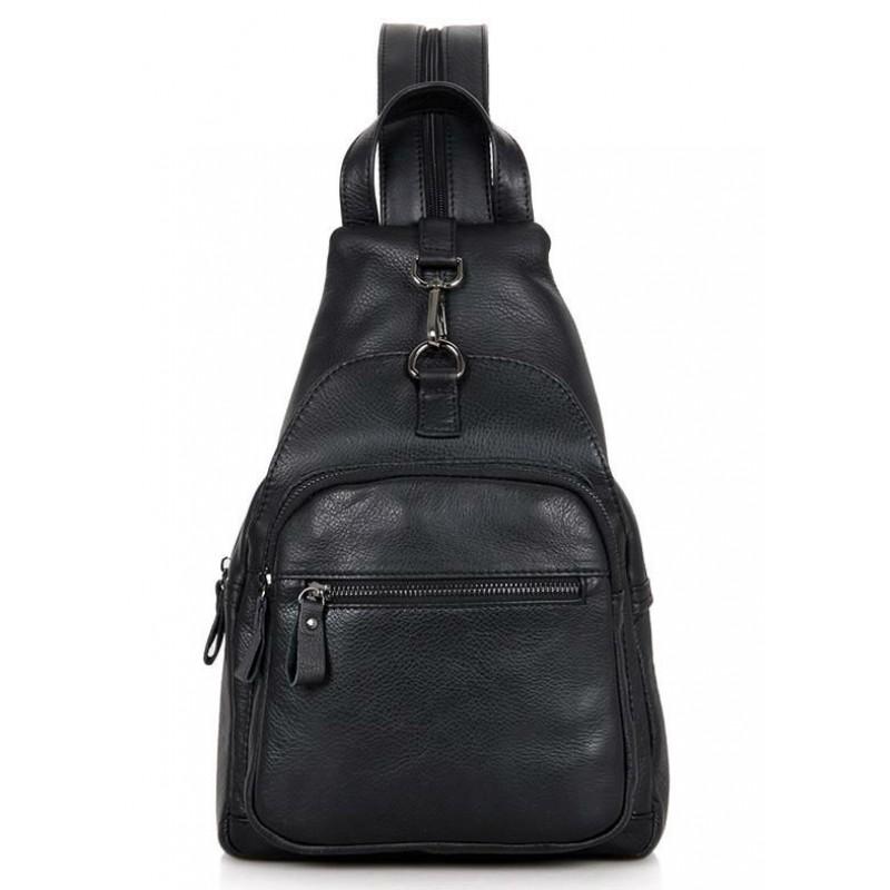 998fb6170ea9 Кожаный рюкзак Tiding Bag 4005A черный купить в Киеве недорого ...