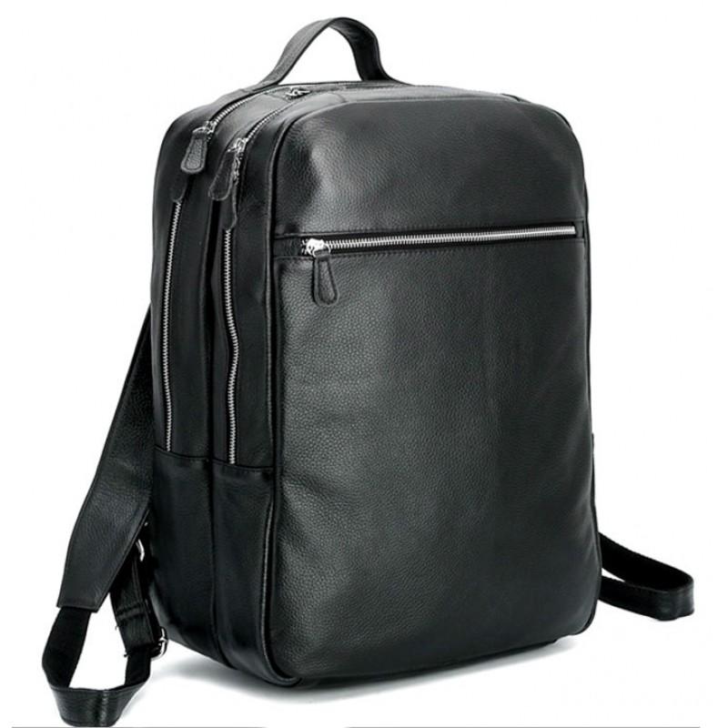 7e534dd93aee Мужской кожаный рюкзак Tiding Bag t3064 черный купить в Киеве ...