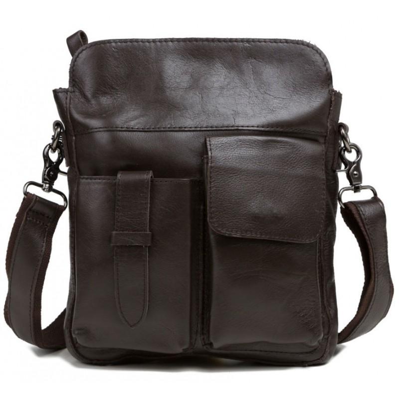056bd933d867 Мужская сумка через плечо TIDING BAG 8501C коричневая купить в Киеве ...