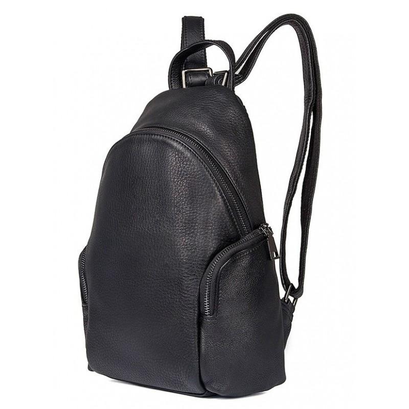 3e7ad00e333e Кожаный рюкзак Tiding Bag 3301A черный купить в Киеве недорого ...
