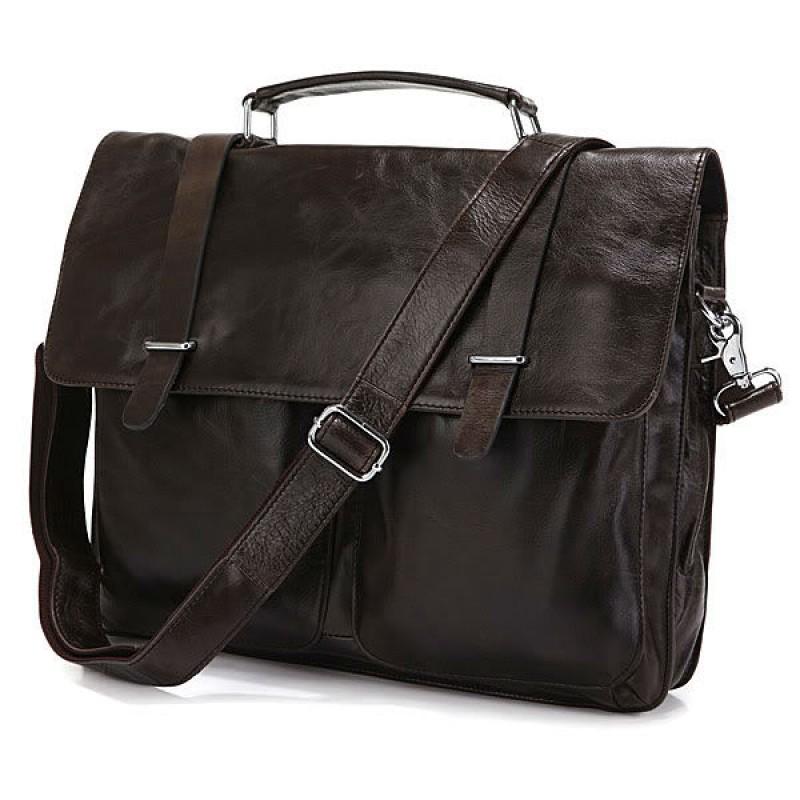 32c4ae6fcf71 Мужской кожаный портфель TIDING BAG 6057J коричневый купить в Киеве ...
