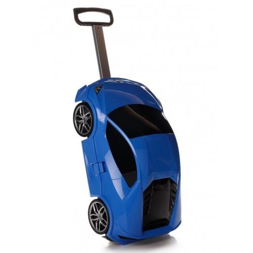 Детская сумка-чемодан на колесах Ridaz Lamborghini Huracan синяя