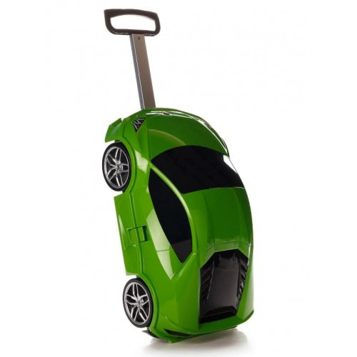 Детская сумка-чемодан на колесах Ridaz Lamborghini Huracan зеленая