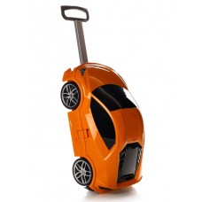 Детская сумка-чемодан на колесах Ridaz Lamborghini Huracan оранжевая