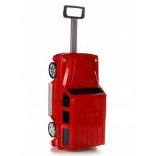 Детская сумка-чемодан на колесах Ridaz Mercedes G-class красная