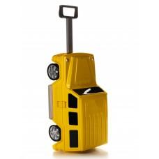 Детская сумка-чемодан на колесах Ridaz Mercedes G-class желтая