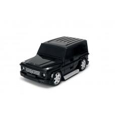 Детская сумка-чемодан на колесах Ridaz Mercedes G-class черная