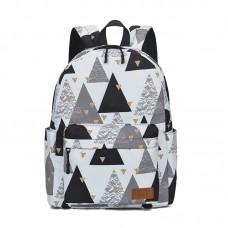 Рюкзак LoveLaris Треугольники серый