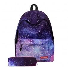 Городской рюкзак Runningtiger Космос синий с пеналом