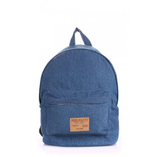 Рюкзак POOLPARTY джинсовый голубой