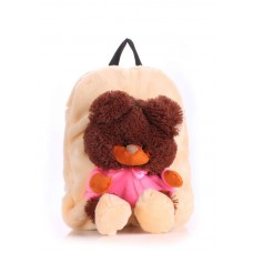 Детский рюкзак POOLPARTY kiddy-backpack-bear-peach