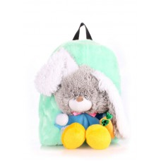 Детский рюкзак POOLPARTY kiddy-backpack-rabbit-green