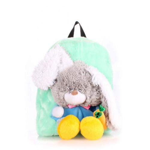 Детский рюкзак POOLPARTY kiddy-backpack-rabbit-green зеленый