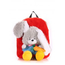 Детский рюкзак POOLPARTY kiddy-backpack-rabbit-red