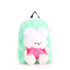 Детский рюкзак POOLPARTY kiddy-backpack-teddybear-green