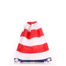Молодіжний рюкзак POOLPARTY SACK біло-синьо-червоний