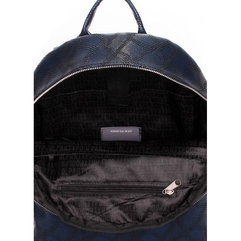 cfbd2ff62eb0 Рюкзак женский POOLPARTY mini-bckpck-snake-darkblue тёмно-синий