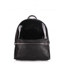 Рюкзак женский кожаный POOLPARTY mini-bckpck-transparent-black