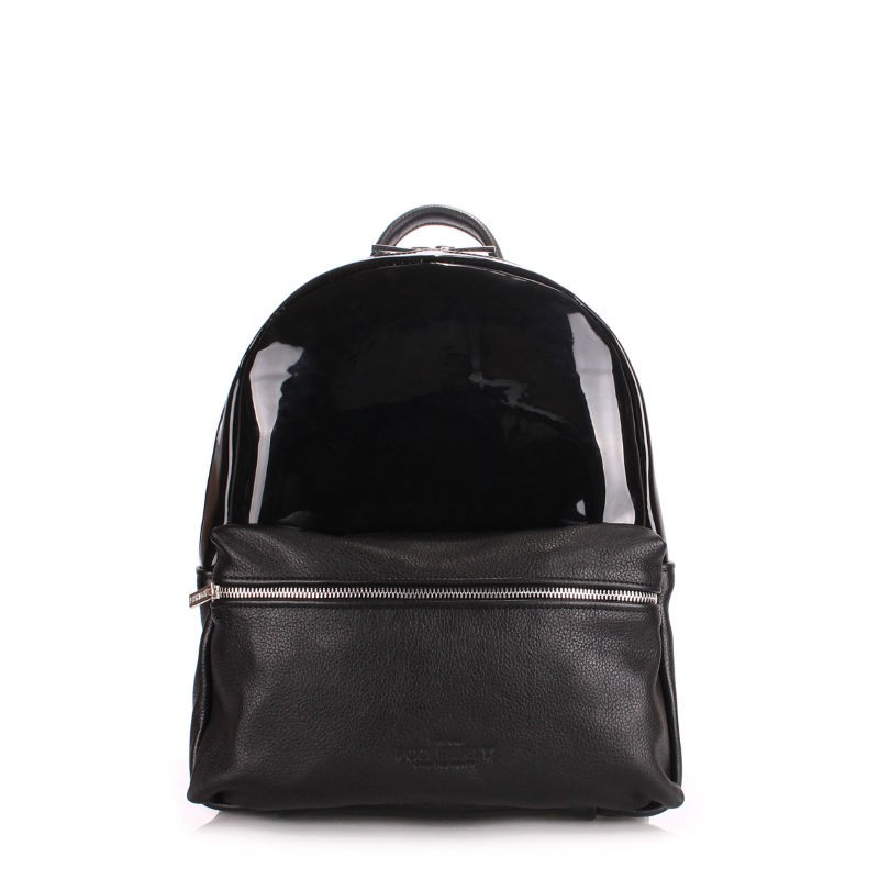ab49572b86b4 Рюкзак женский кожаный POOLPARTY mini-bckpck-transparent-black черный