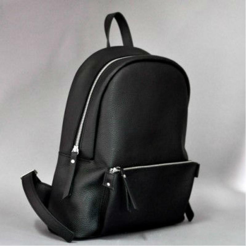 850ecc76d8aa Женский кожаный рюкзак Pilot Black чёрный Женский кожаный рюкзак Pilot  Black чёрный ...