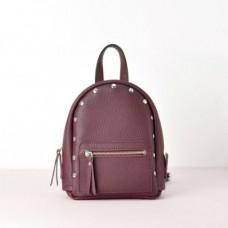 Женский кожаный рюкзак Baby Sport Burgundy фиолетовый