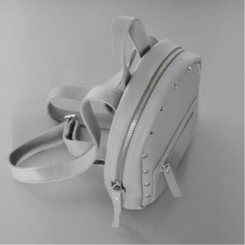 408477fc0d9b Женский кожаный рюкзак Baby Sport Gray серый — купить в интернет ...
