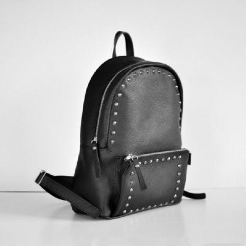 cb8850595c3d Женский кожаный рюкзак Pilot Black чёрный — купить в интернет ...
