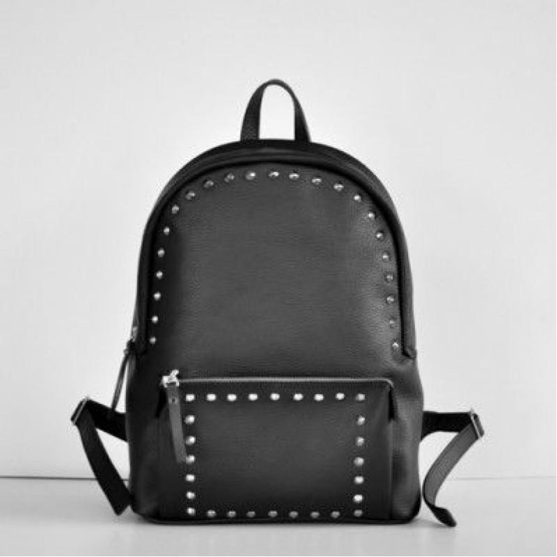 87d470a9dbfc Женский кожаный рюкзак Pilot Black чёрный — купить в интернет ...