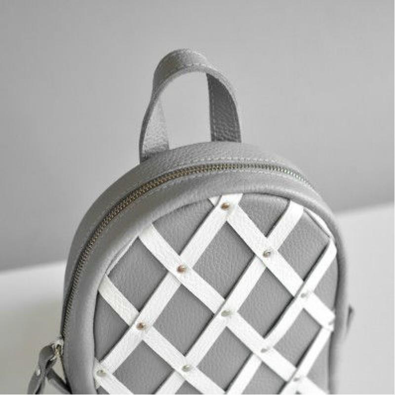 8b8db6a6ade8 Женский кожаный рюкзак Baby Archer Mix серый — купить в интернет ...