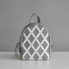 Женский кожаный рюкзак Baby Archer Mix серый