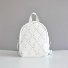 Женский кожаный рюкзак Baby Archer White белый