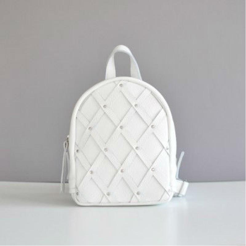 8840074b10b5 Женский кожаный рюкзак Baby Archer White белый — купить в интернет ...