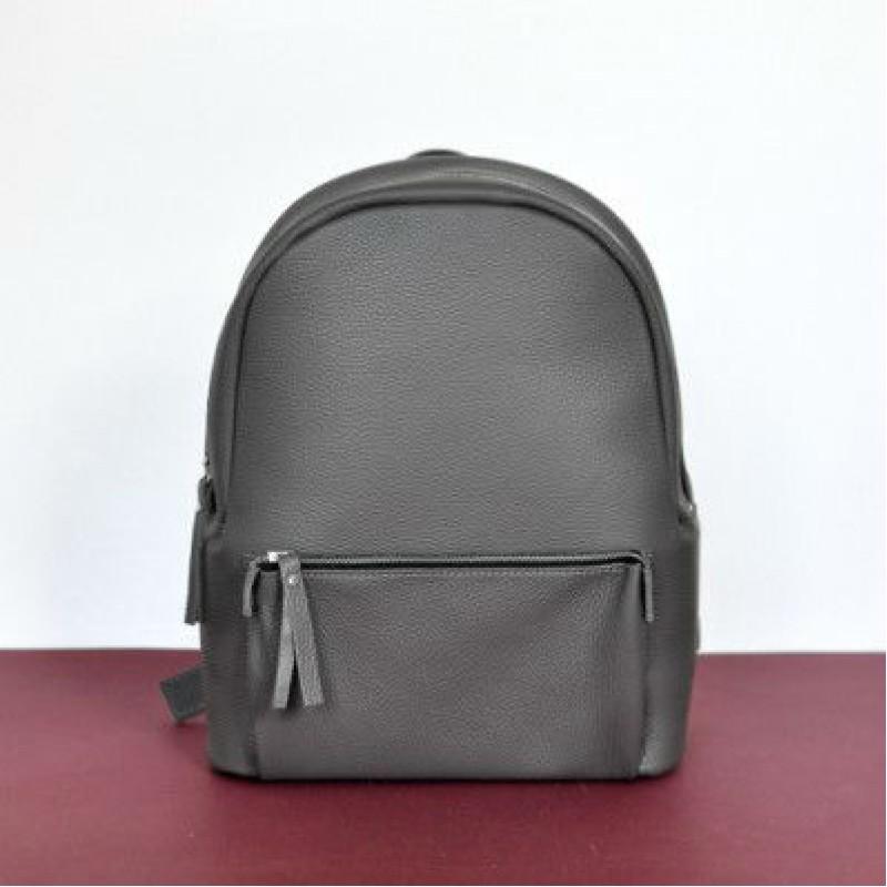 41792ac778a6 Женский кожаный рюкзак Pilot Dark Grey серый — купить в интернет ...